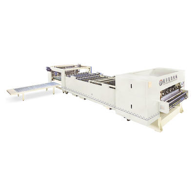 Fully automatic high speed single facer corrugated cardboard production line cadre equipment (screw double knife)